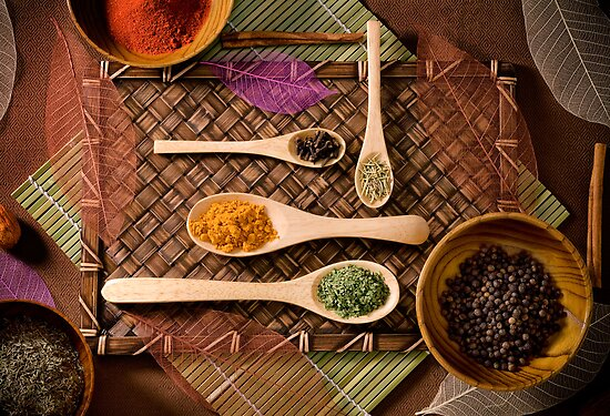 """""""Colorful Array of Spices"""" by Whitney Mason"""