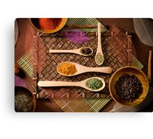 """""""Colorful Array of Spices"""" Canvas Print"""