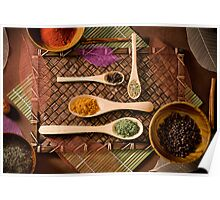 """Colorful Array of Spices"" Poster"