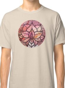 Mandala lotus zen yoga asian meditation doodle watercolor Classic T-Shirt