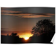 Sunset in L'Isle Poster