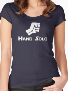 Hand Solo Type Parody Women's Fitted Scoop T-Shirt