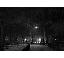 NYC Snowy Path B&W Photographic Print