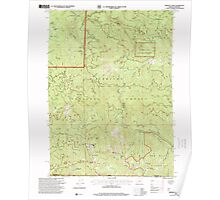 USGS Topo Map Oregon Oregon Caves 280999 1996 24000 Poster