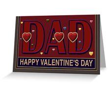 'DAD', Valentine, Caption Greeting Card Greeting Card