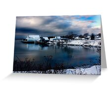 Lowell Cove in Winter Greeting Card