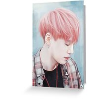 Fluffy Pink Yoongi Greeting Card