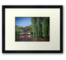 swan boat Framed Print