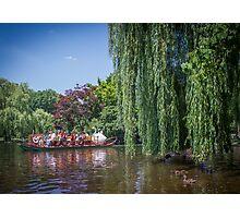 swan boat Photographic Print