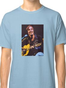 Jackson Browne- Smiling with Guitar Classic T-Shirt