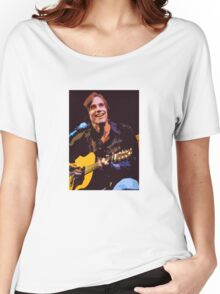 Jackson Browne- Smiling with Guitar Women's Relaxed Fit T-Shirt