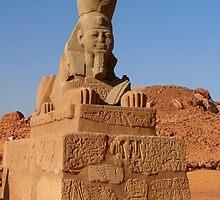 A Sphinx at Wadi el Seboa by Laurel Talabere