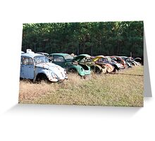 Volkswagen Beetle Graveyard Greeting Card