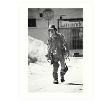 Homeless in L.A. Art Print