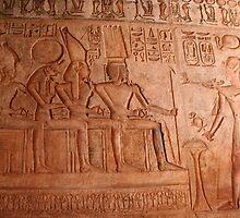 Carvings, Cartuches & Heiroglyphics at Wadi el Seboa by Laurel Talabere