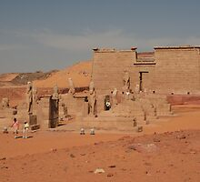 Wadi el Seboa Temple and the Avenue of the Sphinxes by Laurel Talabere