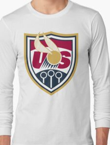 United States of America Quidditch Logo Large Long Sleeve T-Shirt