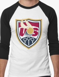 United States of America Quidditch Logo Large Men's Baseball ¾ T-Shirt