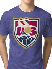 United States of America Quidditch Logo Large Tri-blend T-Shirt