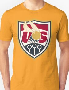 United States of America Quidditch Logo Large Unisex T-Shirt