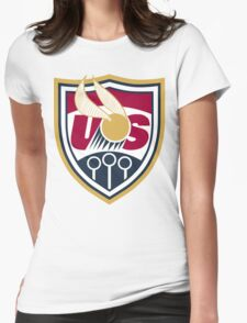 United States of America Quidditch Logo Large Womens Fitted T-Shirt