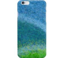 Dandelions in the Mower digital abstract painting iPhone Case/Skin