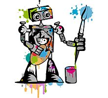 Robot painter  Photographic Print