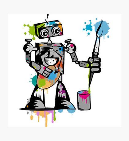 Robot painter  Photographic Print