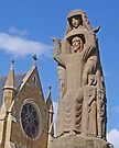 Statue, St Mary's Cathedral, Hobart, Tasmania by Margaret  Hyde