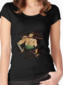 one piece roronoa zoro anime manga shirt Women's Fitted Scoop T-Shirt