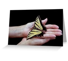 Butterfly in Hand Greeting Card