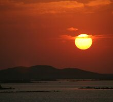 Sunset on Lake Nasser by Laurel Talabere