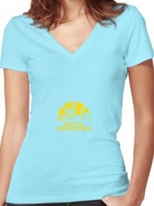 Seattle Supersonics Logo Women's Fitted V-Neck T-Shirt