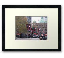 Protest Parade - Sydney Town Hall area Framed Print