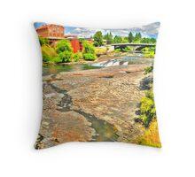 """""""Flour Mill - Spokane, WA"""" Throw Pillow"""