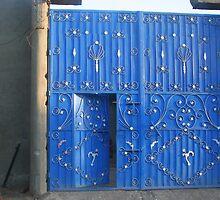 Blue Doorway by Laurel Talabere