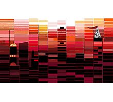 """""""Sunrise"""" - Morning colors over the city. Photographic Print"""