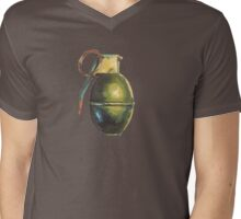 Grenade II Mens V-Neck T-Shirt