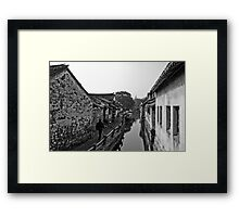 Old Waterways Framed Print