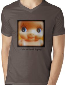 Cute without trying Mens V-Neck T-Shirt