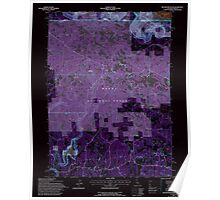 USGS Topo Map California Beaver Mountain 100272 1993 24000 Inverted Poster