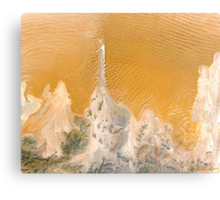 """""""Water and Sand"""" - Wind swept sand dunes. Canvas Print"""