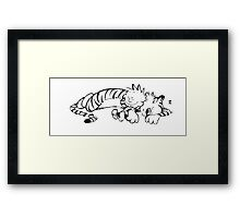 Calvin & Hobbes Sleeping Framed Print