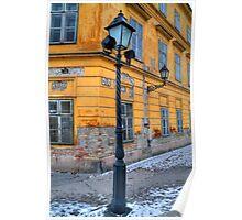 Corner lamp Poster