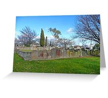 Headstones, Christ Church, Longford Greeting Card