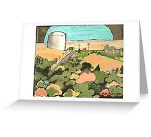 Water Tank, Havre, Montana Greeting Card