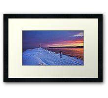 Lake effect sunrise - Rochester NY Framed Print
