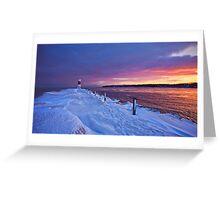 Lake effect sunrise - Rochester NY Greeting Card