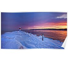 Lake effect sunrise - Rochester NY Poster