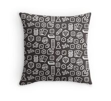 Board Game Pieces – Inverted Throw Pillow